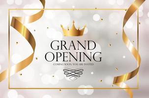 Hintergrund der Luxuseinladungsfahne der großen Eröffnung. Vektorillustration vektor