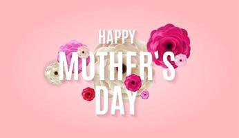 ich liebe dich Mama. glücklicher Muttertagshintergrund. Vektorillustration vektor