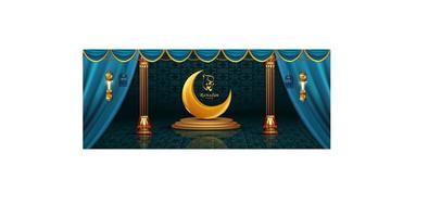 lyxig ramadan kareem realistisk banner försäljning bakgrund vektor