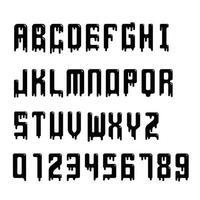 tropfende Alphabet-Vektorillustration. vektor