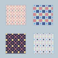 uppsättning med fyra former mönster vektor