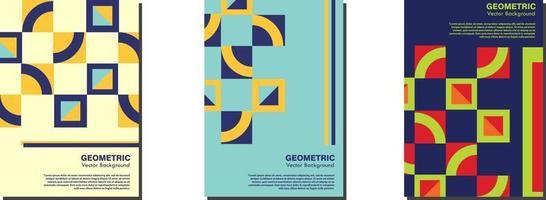 neues schweizer retro poster mit geometrischen formen vektor