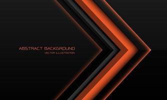abstrakt orange metallisk pilriktning på svart med tomt utrymme design modern futuristisk teknik bakgrund vektorillustration. vektor