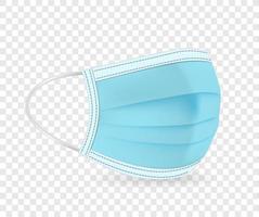 blaue schützende Gesichtsmaskenvektorillustration vektor