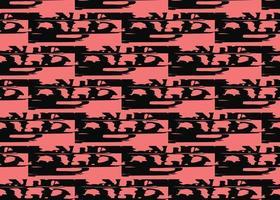 Vektor Textur Hintergrund, nahtloses Muster. handgezeichnete, schwarze, rote Farben.
