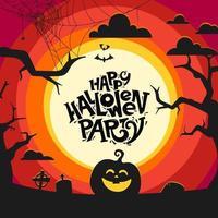 glückliches Halloween-Partyvektorkonzept vektor