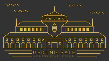 Enastående indonesiska stolthet vektor