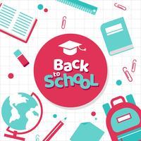 Zurück zu Schule Vorlage Vektor