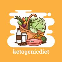 ketogen diet vektor