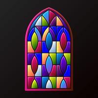 Buntglas-Fenster-Dekorations-Rahmen-Illustration