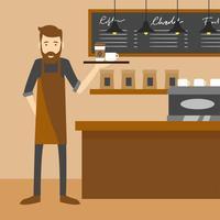 Barista-Café-Vektor