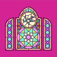 Mohammed-Buntglas-Fenster-Vektor vektor