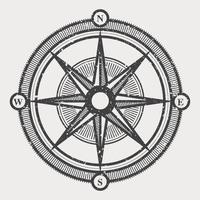 Vintage Kompass Illustration vektor