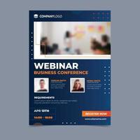 orange und blau a4 online konferenz vektor