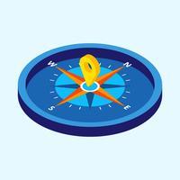 Kompass med isometrisk stil Vektor illustration