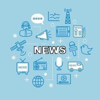 Nachrichten minimale Gliederungssymbole vektor