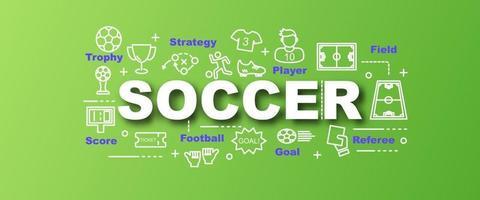 Fußball Vektor trendige Banner