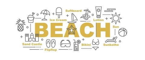 strand vektor banner