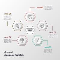 Business Minimal Infografik vektor