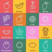 frukt disposition design vektor