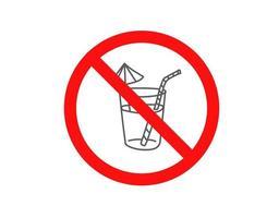 Trinke keinen Alkohol. Vektorzeichen isoliert auf weiß vektor