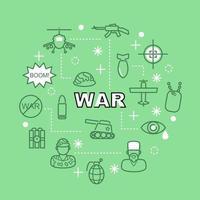 Krieg minimale Umriss Symbole vektor