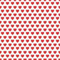 Alla hjärtans pixel sömlösa mönster vektor