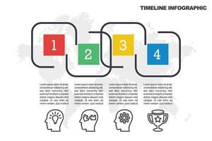 Business Minimal Infografik Vorlage vektor