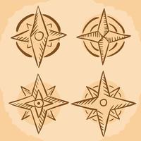 Hand gezeichneter Kompass-Vektor vektor
