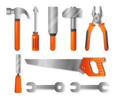 Werkzeuge im realistischen Stil