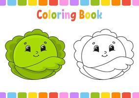 Malbuch für Kinder. Zeichentrickfigur. Vektorillustration. Fantasy-Seite für Kinder. schwarze Kontur Silhouette. isoliert auf weißem Hintergrund. vektor