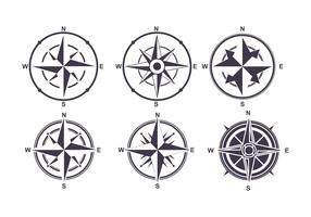 Kompass ikoner vektor