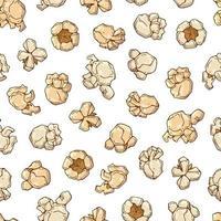 nahtloser Musterhintergrund des Popcorns vektor