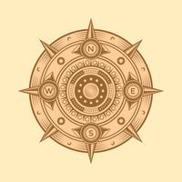 Klassischer Kompass-Vektor vektor