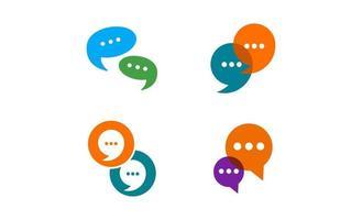 Chat-Blase Logo Design-Vektor isoliert