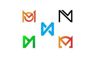Satz Anfangsbuchstabe m Logo Inspiration Design Vektor