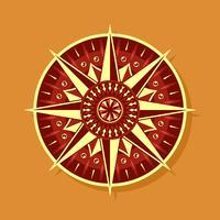 Roter gelber Kompass-Vektor vektor