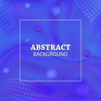 vektor blå och violett flytande färgbakgrund med sfärer och halvtonmönster design.