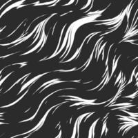 nahtloses Vektormuster in schwarzer Farbe von abstrakten Wellen und Spritzern. Wasser Textur.