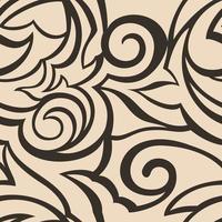Vektorbeschaffenheit der schwarzen Farbe auf beigem Hintergrund. Blumenmuster für Stoffe oder Verpackungen.