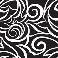 Vektorbeschaffenheit der schwarzen Farbe lokalisiert auf weißen Hintergrundspiralen und abstrakten Formen.