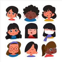 ikon mångfald kvinnodag vektor