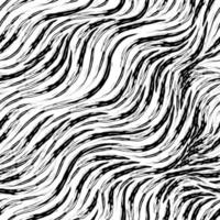 nahtloses Vektormuster der schwarzen diagonalen Streifen auf einem weißen Hintergrund. Textur für Stoff oder Verpackung glatte Linien isoliert auf einem weißen Hintergrund mit zerrissenen Kanten vektor