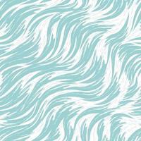 nahtloses Vektormuster der blauen Wellen auf einem weißen Hintergrund. Seedruck in Pastellfarben. Fluss oder Fluss Textur vektor