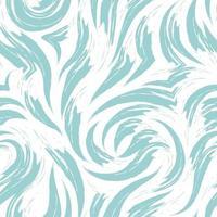 Vektor abstrakte türkisfarbene Welle oder Wirbel nahtloses Muster lokalisiert auf weißem Hintergrund.