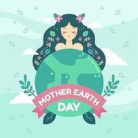 Mutter-Erde-Tag-Konzept vektor