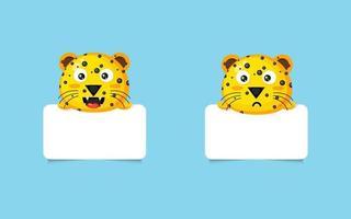 niedliche Leoparden-Fotorahmen vektor