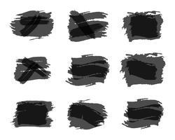 Akvarell, bläck, stänk Citat blank mallar. Citera bubblor. Tom mall. Cirkel visitkort mall, pappersark, information, text. Skriv ut grå design. Citatformulär. Mall vektor uppsättning