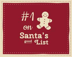 Weihnachtsneues lustiges Zeichen, Zitathintergrunddesign für Kinder - Warteschnee. Schöne helle Palette. Rote und weiße Farben. Kann als Flyer, Banner, Poster, Weihnachtskarte verwendet werden. Vektor.