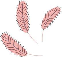 Vogelfeder. Hühner- oder Gänsefeder vektor